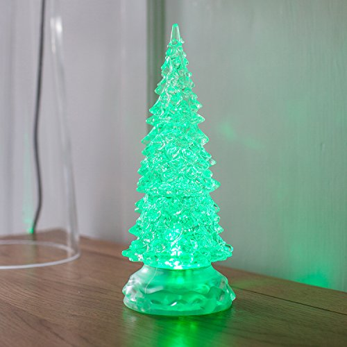 Colour Changing Swirling Glitter Water Battery LED Christmas Tree by Lights4fun
