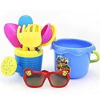 autumn-wind SALE! 9Pcs Kids Beach Sand Toys Set, Funny Castle Bucket Spade Shovel Rake Water Sandbeach Play Tools For Children