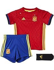 1ª Equipación Selección Española de Fútbol Euro 2016 - Conjunto para bebé camiseta y pantalón corto oficial adidas, talla 86