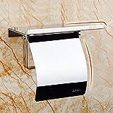 SODIAL Toilettenpapierhalter mit Regal - Toilettenpapierhalter Toilettenpapierhalter Wandhalterung