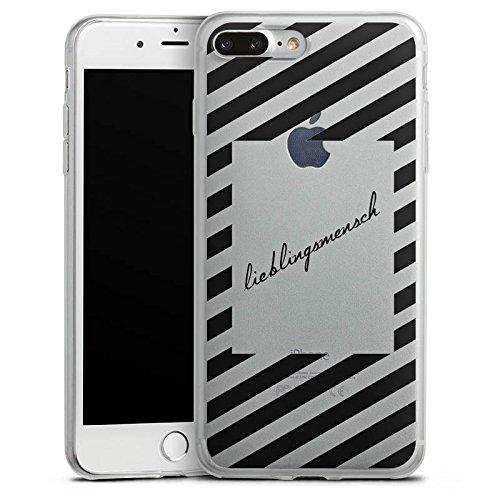Apple iPhone 8 Slim Case Silikon Hülle Schutzhülle Transparent mit Motiv Lieblingsmensch Statement Silikon Slim Case transparent