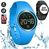 feifuns Smart Watch Non-Bluetooth Kid Pedometer Watch Sport Wristband IP68 Water-Resistant Swim Watch Fitness Tracker with Step/Distance/Calorie/Clock/Timer for Walk Kid Men Women