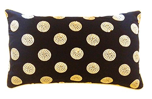 the-indian-promenade-14-x-24-inch-georgette-sequins-work-cushion-cover-black