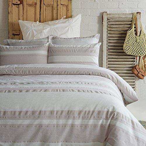Auf Einem Damast Teppich (Lausonhouse Garn gefärbt 100% Baumwolle Seersucker Bettwäsche-Set - 155x220)
