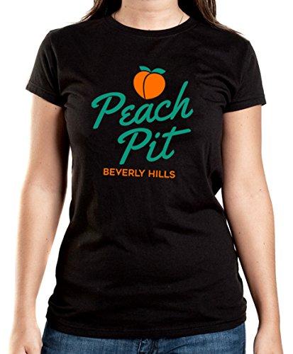 Certified Freak Peach Pit T-Shirt Girls Black (Beverly Hills 90210-shirt)