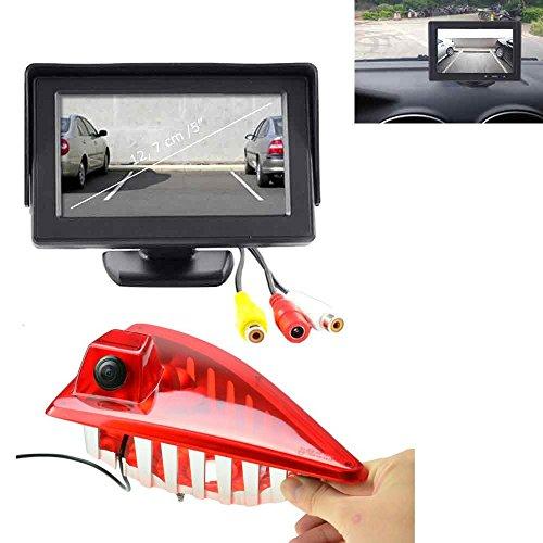 YMPA Rückfahrsystem Einparkhilfe Transporter kompatibel mit Renault Opel Nissan Rückfahrkamera Monitor 12,7 cm 5 Zoll Inch 10 Meter Kabel Farbe