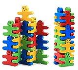 Colleer Blocchi Costruzioni Giocattoli Educativi 16 Pezzi Puzzle di Legno Creative per Bambini 3+