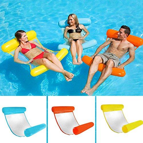 Alftek Faltbares Wasser-Hängematte-Einzelne Leute-aufblasbares Rücken-Strand-Liege-Swimmingpool-Bett