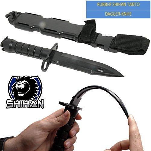 Elite-en-caoutchouc-flexi-Arts-Martiaux-Krav-Maga-Tanto-tactique-Special-Forces-Formation-Sucette-Dagger