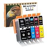 D&C 5 Druckerpatronen komp. für Canon PGI-520 CLI-521 Pixma iP3600 iP4600 iP4700 MP540 MP550 MP560 MP620 MP630 MP640 MP980 MP990 MX860 MX870
