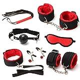 Juego de peluche con cinta roja y negra - 7 piezas