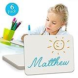 6Pack Dry Erase Lap Board 22,9x 30,5cm | Interaktives lernen Whiteboard | für Schüler und Gebrauch im Klassenzimmer, Zeichenbrett, und College Board (einseitig)