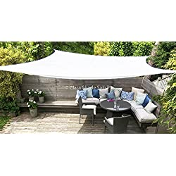 Toldo Vela Clara Shade Sail blanco impermeable sol vela de sombra para jardin impermeable UV Canopy (Rectangle 2m x3m)