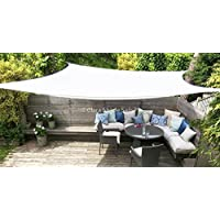 Toldo Vela Clara Shade Sail blanco impermeable sol vela de sombra para jardin impermeable UV Canopy (Rectangle 2m x3m)