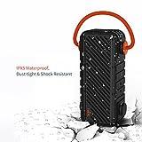 HAVIT Bluetooth V4.2 Lautsprecher 20W mit reinem Bass, Tragbarer Outdoor Lautsprecher IPX5 Wasserdicht, Staubdicht, Schockresistent, 20 Meter Reichweite, 16 Stunden Spielzeit, Eingebautes Mikrofon, USB Ladefunktion. (M22)