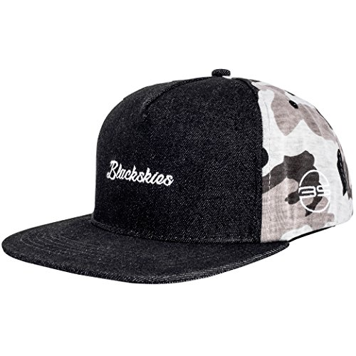 Blackskies Snapback Cap Wildleder Camo Denim Schirm Flanell Unisex Premium Baseball Mütze Kappe Wolle, Charlie, Einheitsgröße