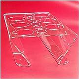 Abtropf-halter und Flaschen-ständer . Zubehör für 6 Sodasteam Glaskaraffen für z.B. Soda-stream Crystal Source Easy Cool Abtropfgestell Trockenständer Abtropfständer aus Acryl. Einführungs-Angebot !