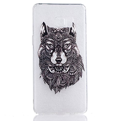 Custodia per iPhone, motivo: iPhone Case creativo colorato design Gel TPU per cellulare trasparente Soft Case Cover Custodia TPU Bumper rigida protegge da sporco e graffi per iPhone wolf