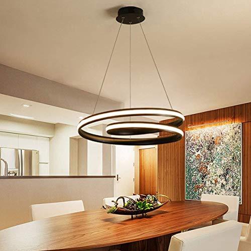Xiao Yun LED 52 Watt Moderne Pendelleuchte Insel Kronleuchter Kunstwerk Deckenbeleuchtung Innen Oval Design Lampe Esstisch Kronleuchter Aluminium Hängende Leuchte for Wohnzimmer Büro Dimmbar