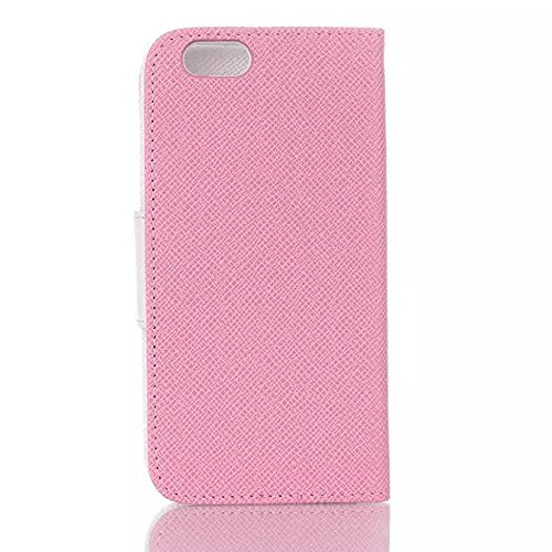 "inShang iPhone 6 Plus Coque iPhone 6+ 5.5"" Housse de Protection Etui pour Apple iPhone6 plus iPhone6+ 5.5 Inch, Cuir PU de premiere qualite, + inShang Logo Qualite Pens Haute Stylet capacitif contras pink"