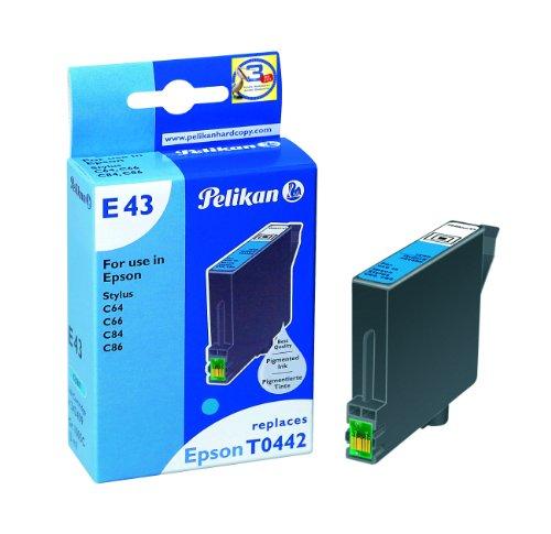 Pelikan Druckerpatrone E43 ersetzt Epson T04424010, Cyan (pigment) - Pigment-inkjet-cyan