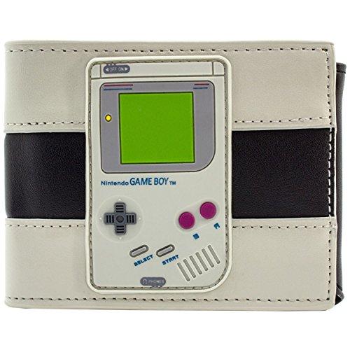 Nintendo Game Boy Gummi-Konsole-Abzeichen Schwarz Portemonnaie -