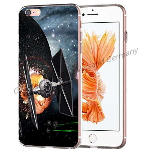 Blitz® STAR WARS Schutz Hülle Transparent TPU Cartoon Comic Case iPhone M3 iPhone 7 M14
