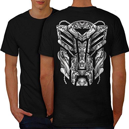 wellcoda Autobot Logo Männer 5XL Ringer T-Shirt