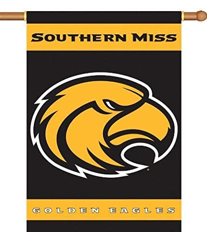 BSI Products 96065 2-Sided 28'' X 40'' banni-re W / Pole Sleeve - Southern Miss Golden Eagles