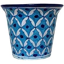"""Aurea Blue Pottery Table Top/Window Planter or Flower Pot 5"""""""
