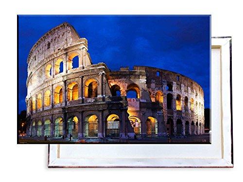 Kolosseum in Rom - 60x40 cm - Bilder & Kunstdrucke fertig auf Leinwand aufgespannt und in erstklassiger Druckqualität