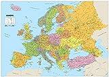 A1carte de l'Europe–Papier laminé (format A159.4x 84.1cm)...
