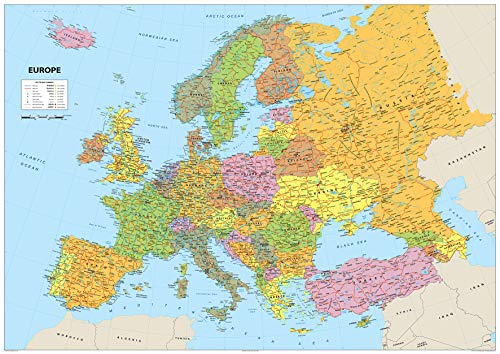 Mapa de Europa A1 - Papel laminado A1 Tamaño 59