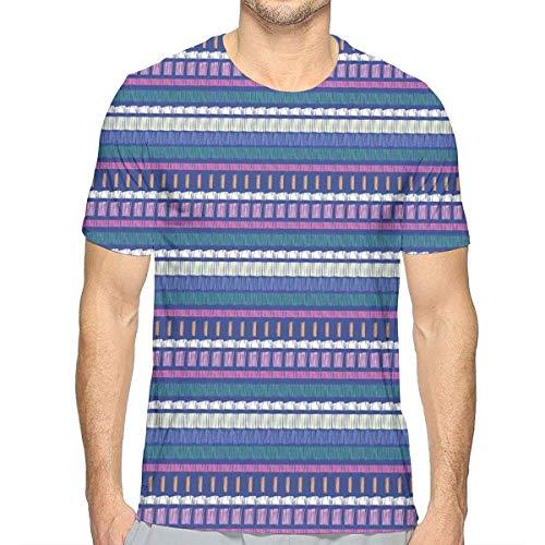 Vertikale Streifen-shirt (3D gedruckte T-Shirts, vertikale Streifen Ethnisches Muster Abstrakte orientalische Anordnung Afrikanische Kultur-Motive)