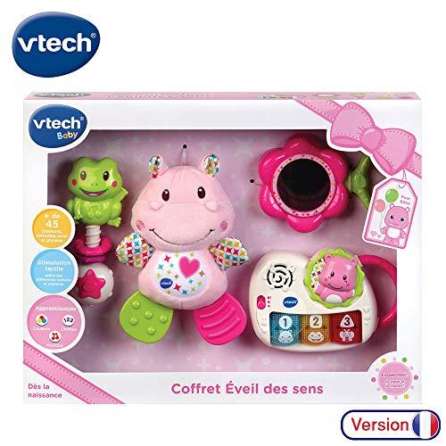 VTech - Coffret naissance - Eveil des sens - Cadeau de naissance avec premiers jouets de Bébé - rose