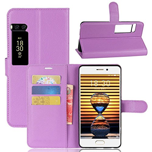 Tasche für MeiZu Pro 7 Lite Hülle, Ycloud PU Kunstleder Ledertasche Flip Cover Wallet Case Handyhülle mit Stand Function Credit Card Slots Bookstyle Purse Design lila