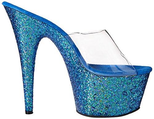 ... Pleaser Adore 701Lg Sandali, Donna Clr/Blue Holo Glitter