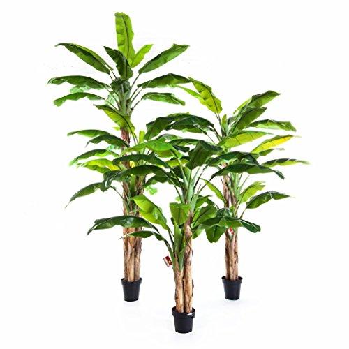 artplants Künstlicher Bananenbaum Amaru, grün, 180 cm – Deko Staude/Plastik Baum