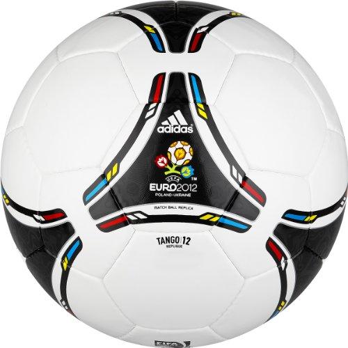 adidas Euro 2012Replique Fußball (weiß, schwarz), weiß/schwarz, Size 5