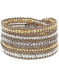 Chan Luu Bracelet avec perles en or et cristal - Femme