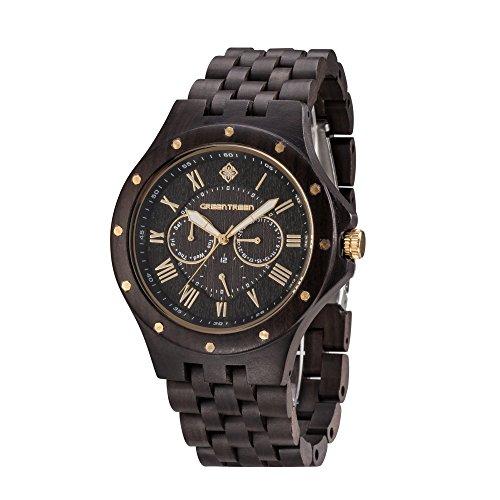 greentreen-herren-multifunktions-uhr-schwarz-sandelholz-chronograph-armbanduhren-con-5atm-resistente