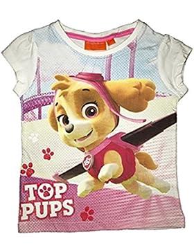 Camiseta Paw Patrol-Patrulla Canina- para niñas manga corta 100% algodón
