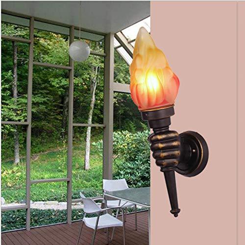 Al Aire Libre Impermeable Personalidad Retro Retro Protección Ojos Lámpara De Pared Dormitorio Sala De Estar Balcón Luz De Noche Diseñador Lámpara De Mesa Al Aire Libre 18X13X47Cm