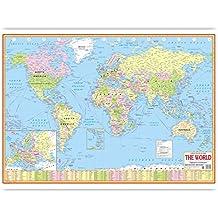 WORLD POLITICAL MAP ENGLISH LANGUAGE(70 X 100 CMS)