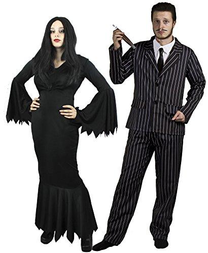 HALLOWEEN GOTHIC PAAR = KOSTÜM VERKLEIDUNG = FÜR MR & MRS = BKANNT AUS FILM UND FERNSEHEN = VON ILOVEFANCYDRESS= DAS PERFEKTE PAARE KOSTÜM FÜR FASCHING UND KARNEVAL UND HALLOWEEN (Ideen Paar Halloween Film Kostüme)