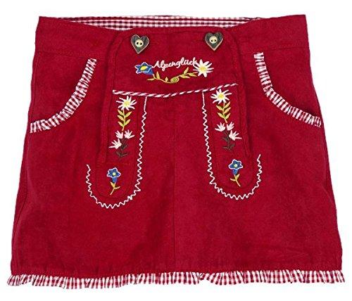 BONDI Trachtenrock aus Kunstleder, rot 134 Miss Alpenglück Artikel-Nr.26025 Miss Lederhosen
