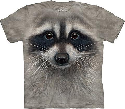 Kinder T-Shirt Raccoon Face grau | XL