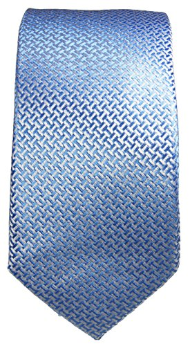 Schmale Krawatte 6cm blau 100% Seidenkrawatte by Paul Malone