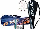 Yonex Pro Badminton Combo - NAVY (Yonex Nanoray 7 AH Strung Badminton Racquet + Yonex Mavis 500 Pack of 6 Shuttlecock + Yonex SUNR 1004 Badminton Kitbag, Navy)