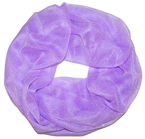 Damen Glitzerschal Schlauchschal Loopschal Suchergebnisse Einfarbig Uni Sommerschal mit Glitzer Strass Loop Tuch Tücher Schals (Violette)